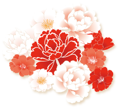 Chinese flower png. New year image