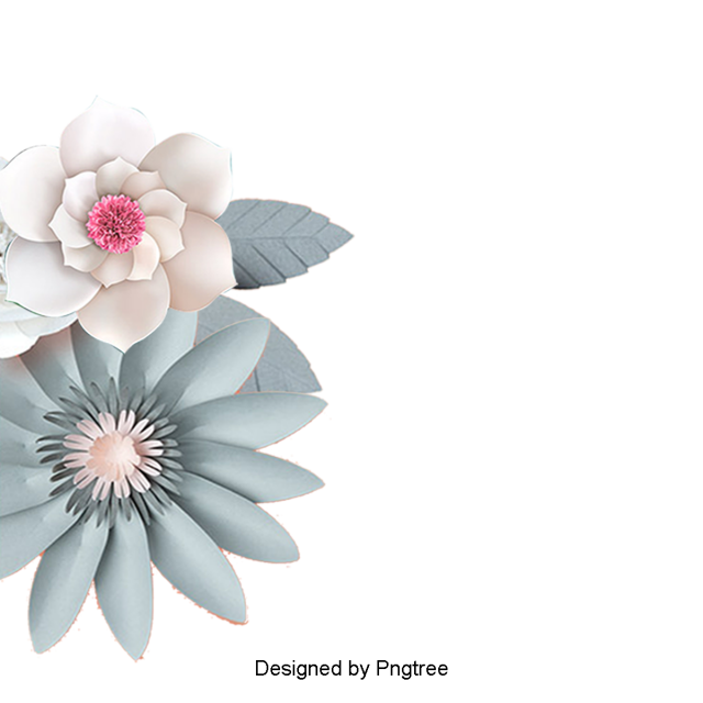 Chinese flowers png. Aesthetic cartoon wind paper