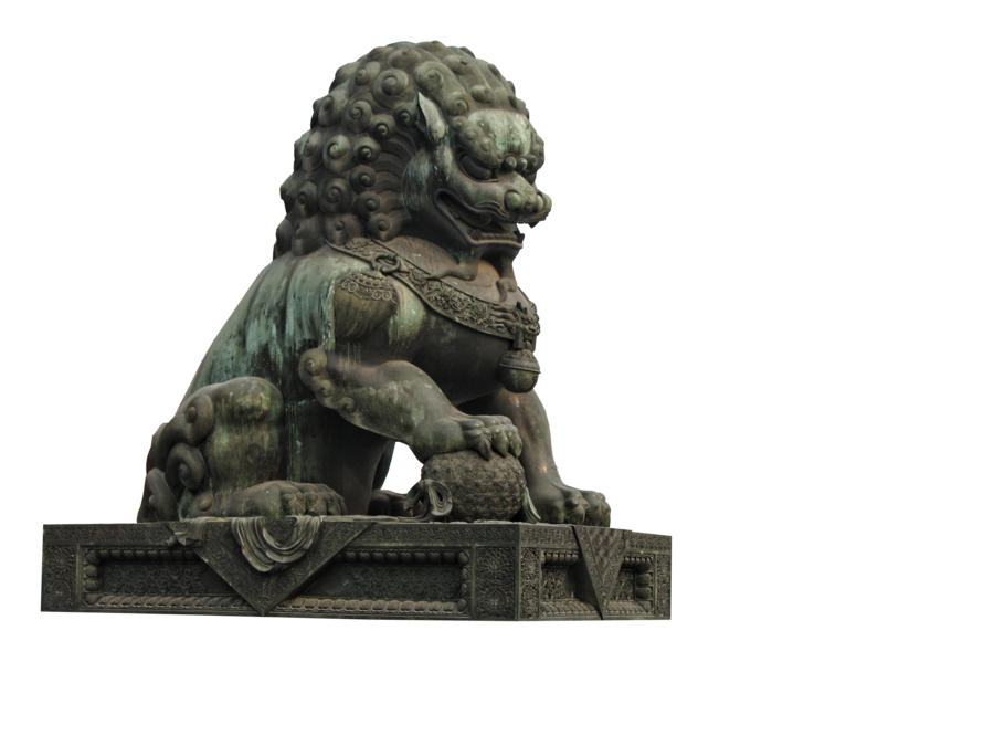 Chinese lion statue png. By camelfobia on deviantart