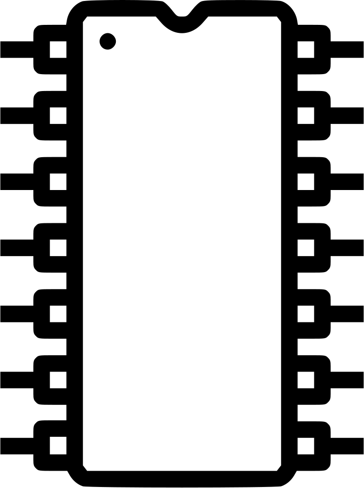 Chip clipart svg. Computer electronic circuit solicon