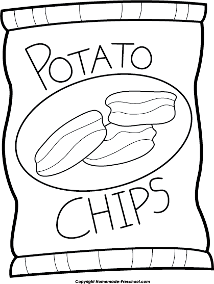Chip drawing. Potato chips png