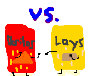 Chip drawing bag doritos. Fighting a lays drawception