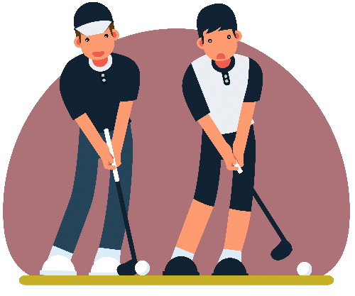 Golfer drawing fine. How to play golf