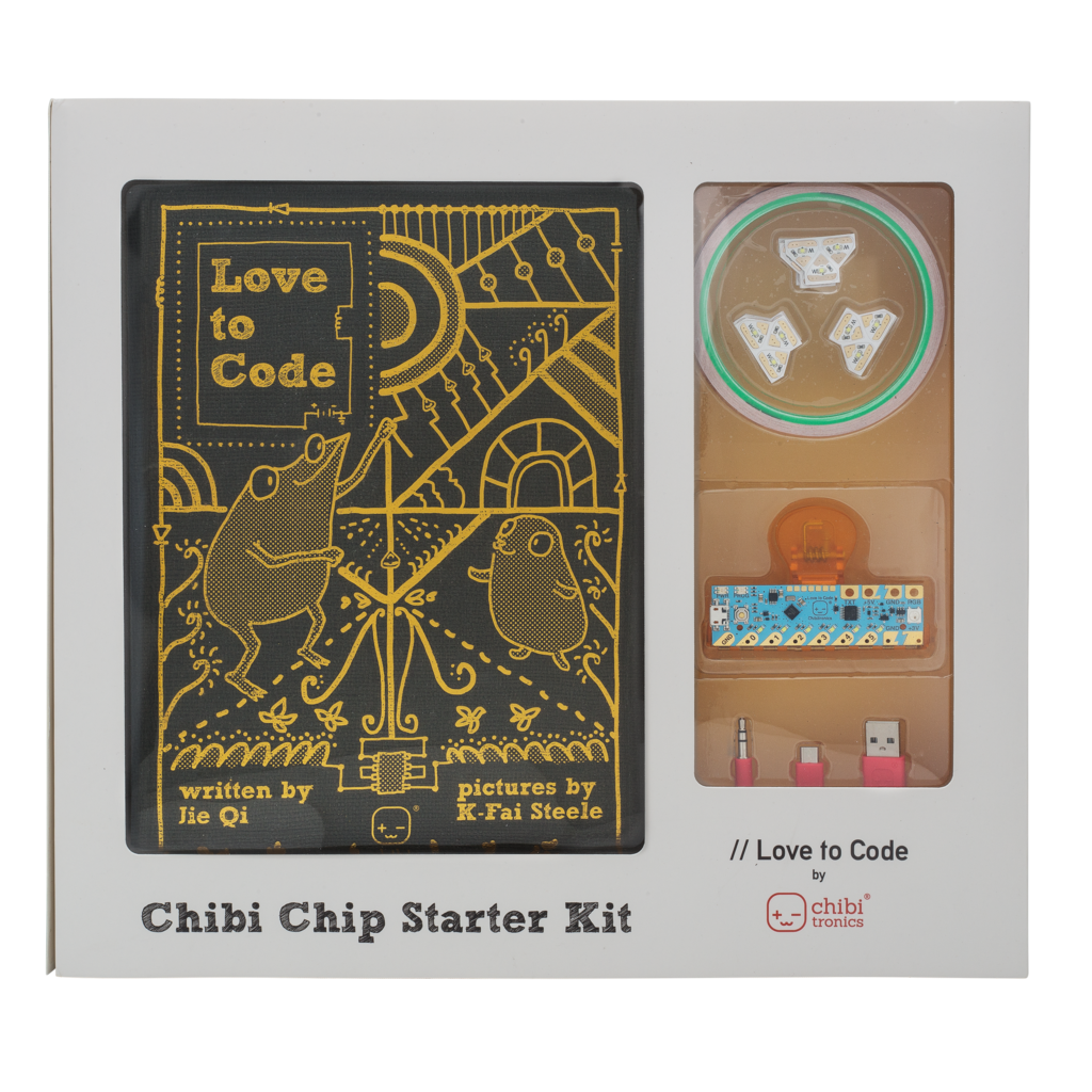 Love to code creative. Clip circuit kit image black and white stock