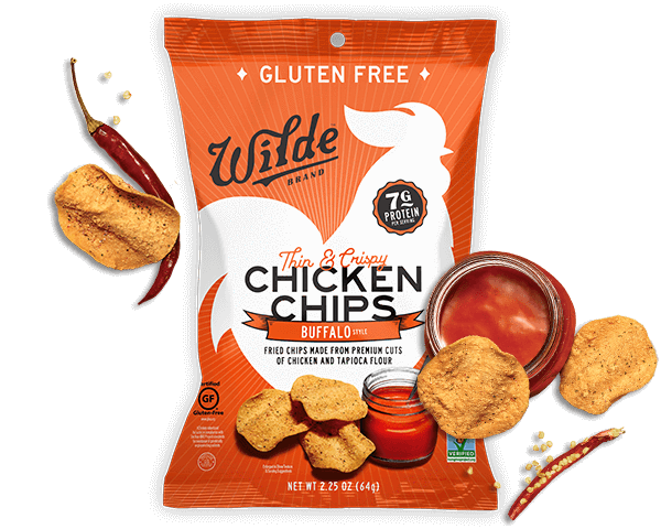 Chip drawing fried food. Buy wilde buffalo chips