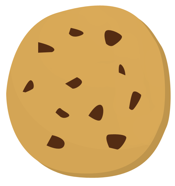 Chip drawing chocolate cookie. Bitten svg library