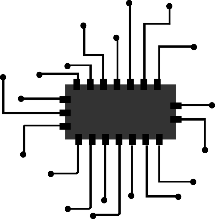 Chip drawing computer. Cpu png black and
