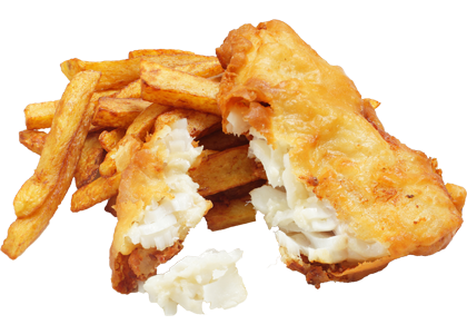 Chip drawing fried food. Fish and takeaway ilfracombe