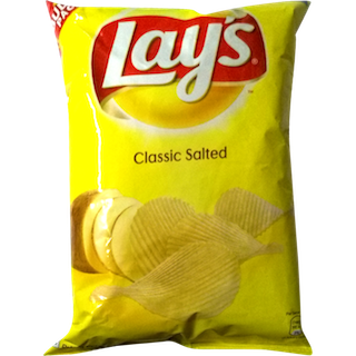 Chip drawing lays. Potato chips classic salted