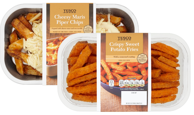 Chip drawing sweet potato fry. Processor launches new range