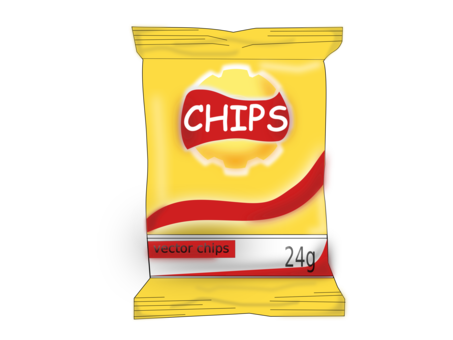 Fries vector fast food. French potato chip line