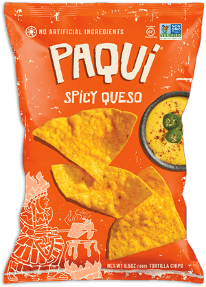 Chips and queso png. Paqui spicy jalpeno chipotle