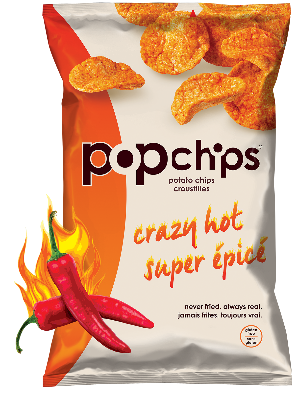 Chips bag png. Popchips potato crazy hot