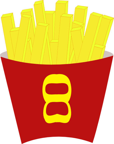 Chips clipart junk food. French fries clip art