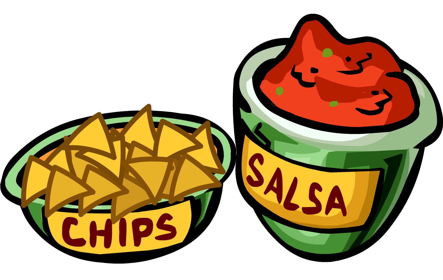 Chips cartoon png. Image salsa and club