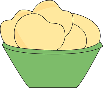 Chips clipart bowl chip. Of potato clip art