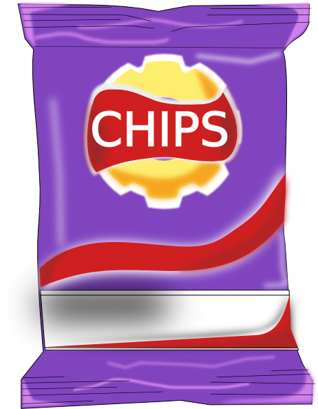 Packet clip art at. Chips clipart png image black and white