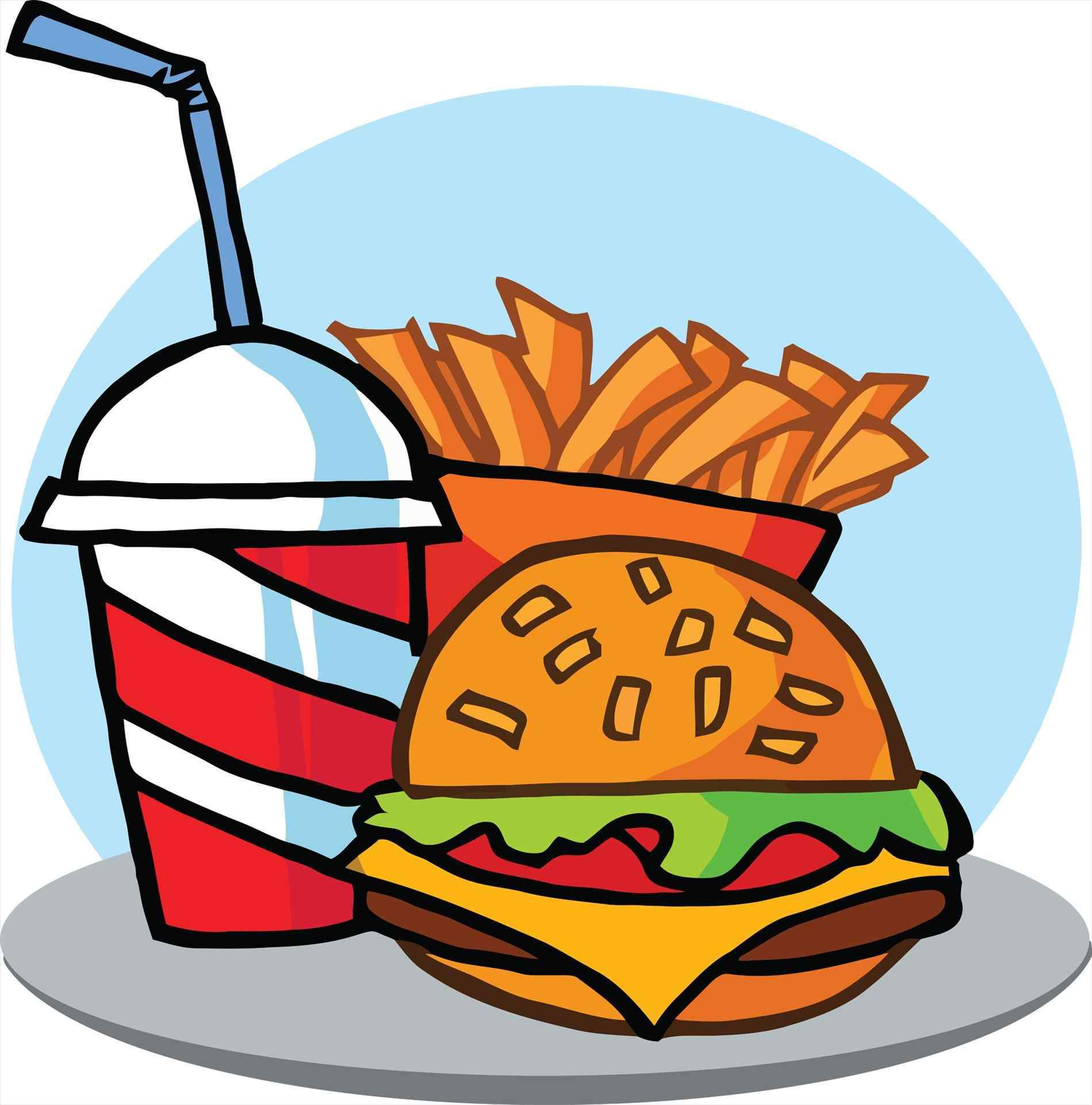 Chips clipart unhealthy food. Meal healthy vs junk