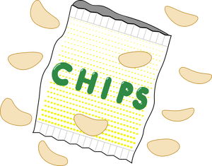 Chips clipart unhealthy food. Chip picture black