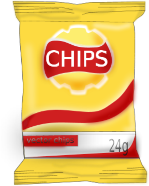 Chips png clipart. Bag of potato panda