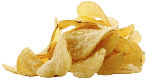 Chips transparent background. Potato png image with