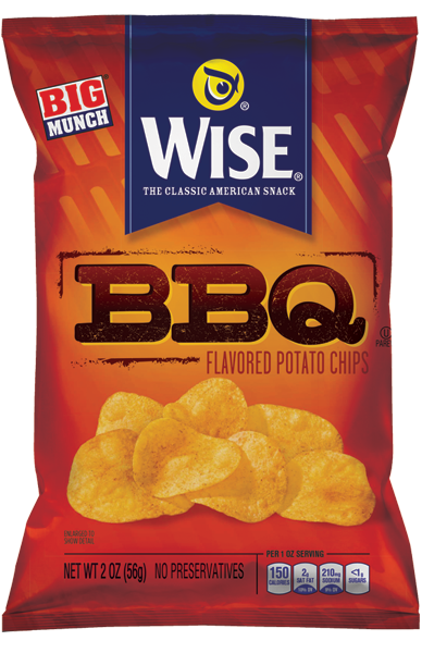 Chips transparent big. Bbq wise snacks