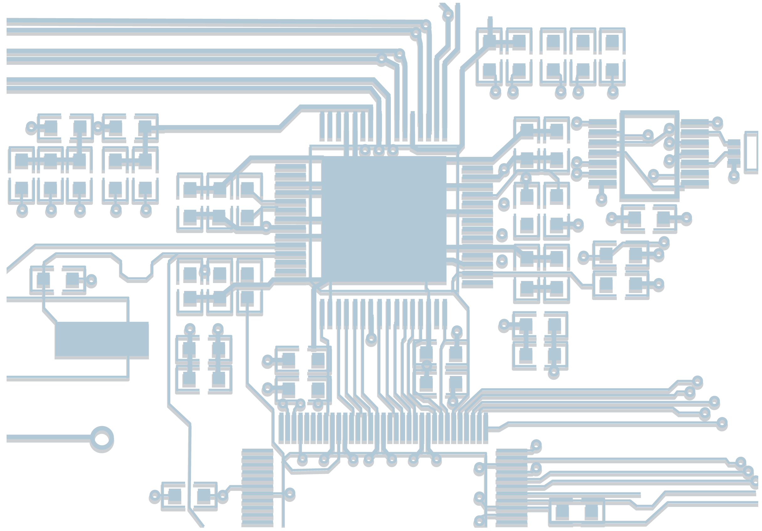 Chips transparent circuit. Integrated electronic diagram printed