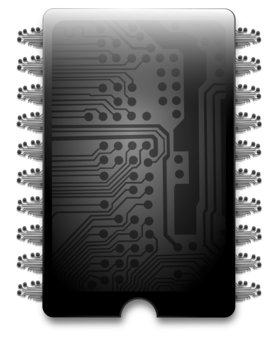 Chips transparent electronic. Electronics integrated circuits biochip