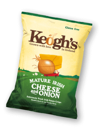 Chips transparent irish. Potato and crisps from