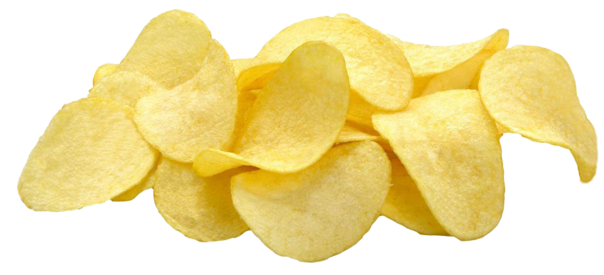 Chips transparent potatoe. French fries fast food