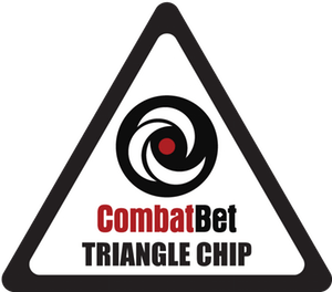 Chips transparent triangle. Custom ceramic poker challenge