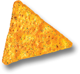 Chips transparent triangle. Honchos all the flavor