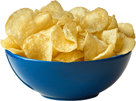 Chips transparent unhealthy food. Say no to the