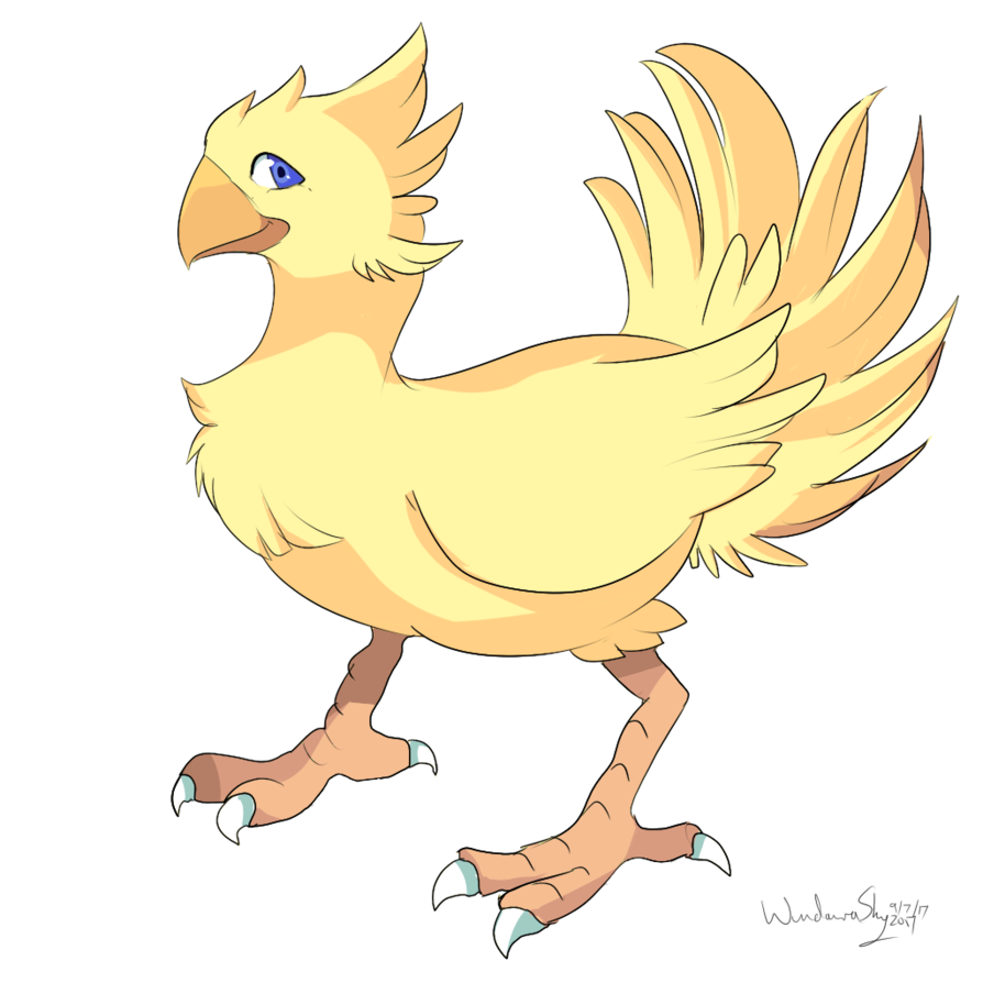 Chocobo drawing adorable. By windaura on deviantart