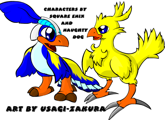 Chocobo drawing baby. Flut meets by usagi