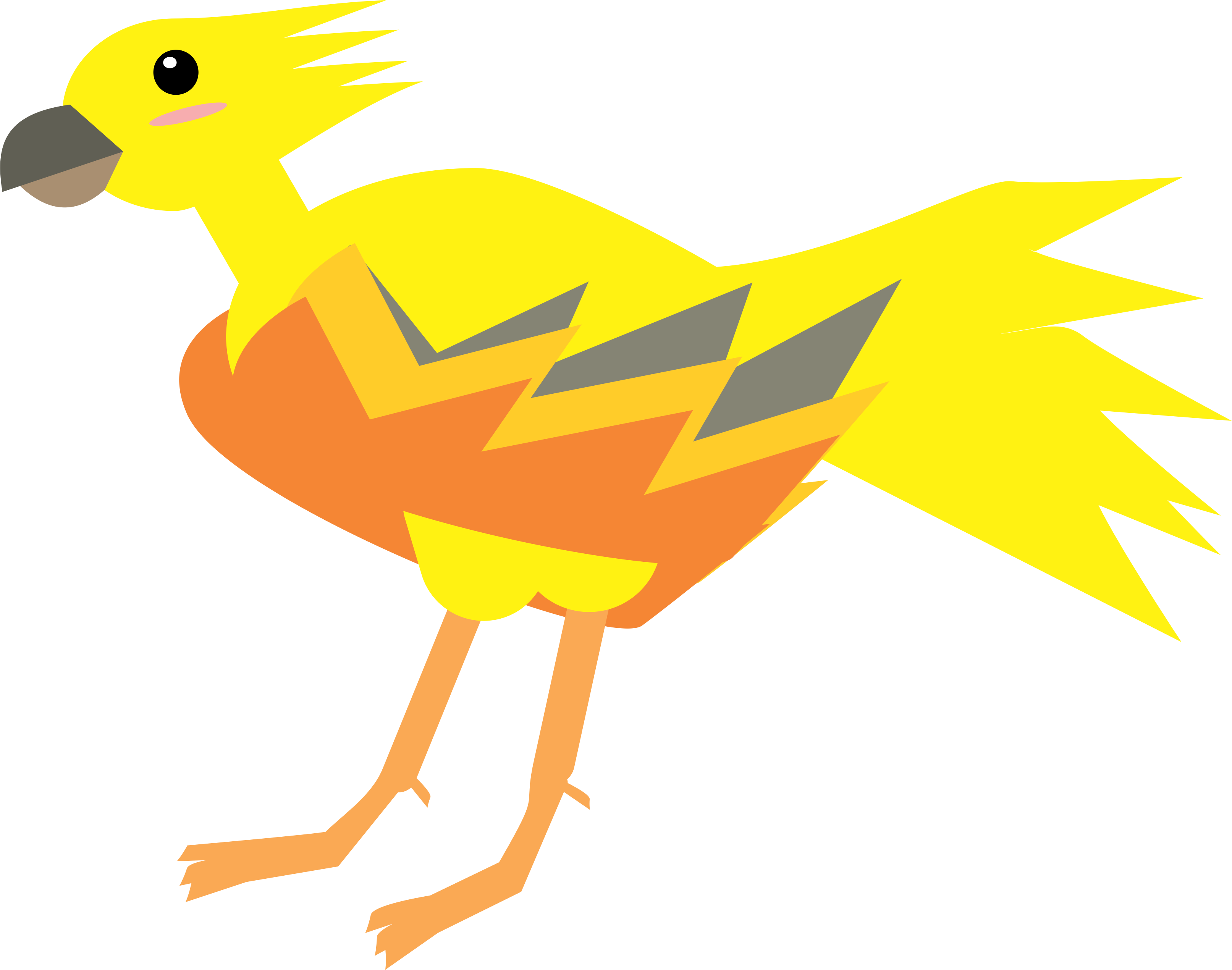 Chocobo drawing cartoon. Vector art final fantasy
