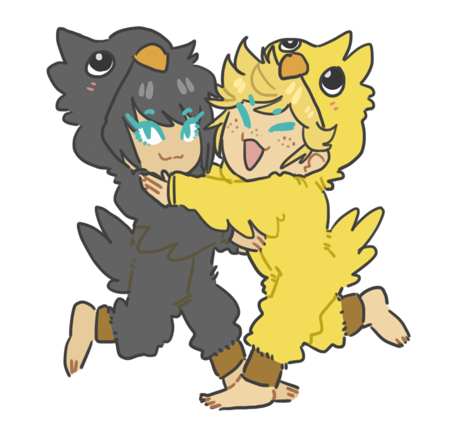 Chocobo drawing cartoon. Kigus by s bk
