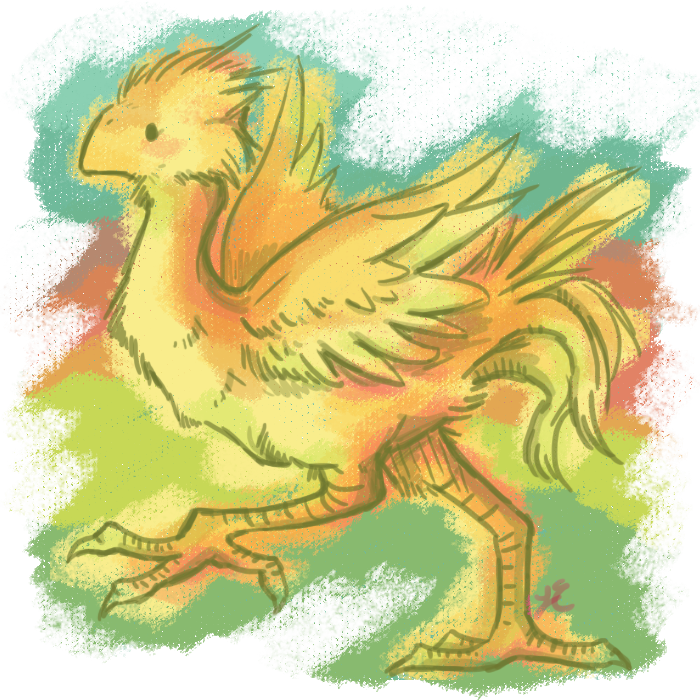 Chocobo drawing claw. Trot by paleona on