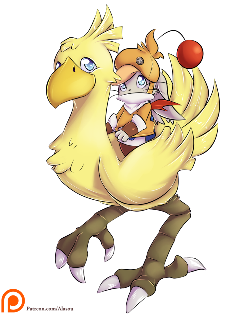 Chocobo drawing cute. Rider by alasou on