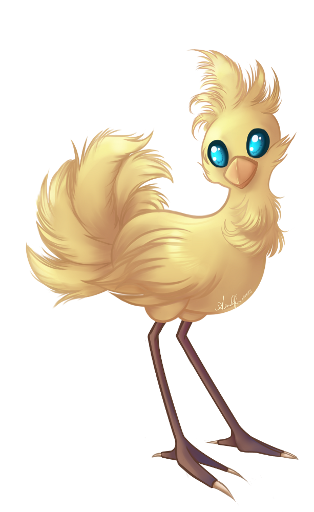 Chocobo drawing cute. By violetraine on deviantart