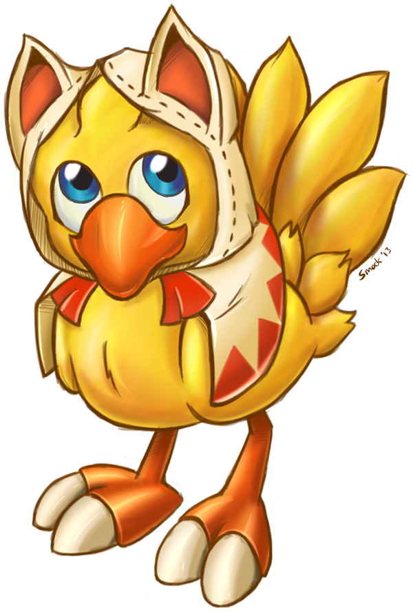 Chocobo drawing cute. White mage by smockhobbes