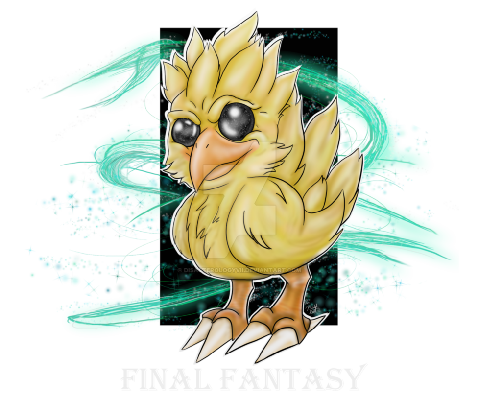 Chocobo drawing final fantasy. By disasterologyvii on deviantart