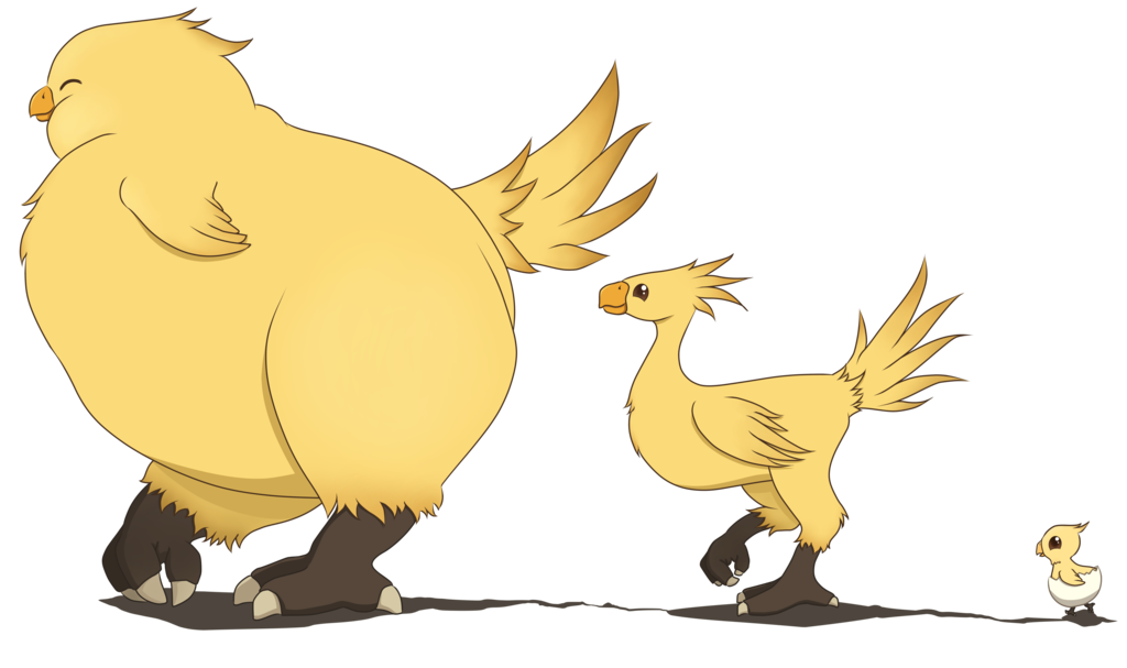 Chocobo drawing fluffy. March by feraldingo on