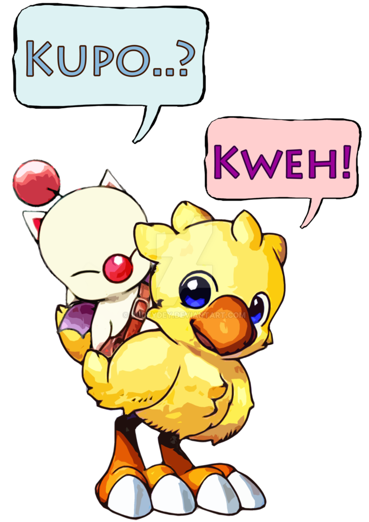 Chocobo drawing moogle. And by judeydey on