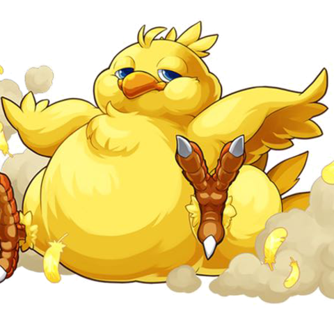 Chocobo transparent cartoon. Too ugly for a