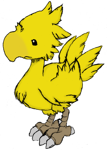 Chocobo transparent dancing. Gold by liayso on