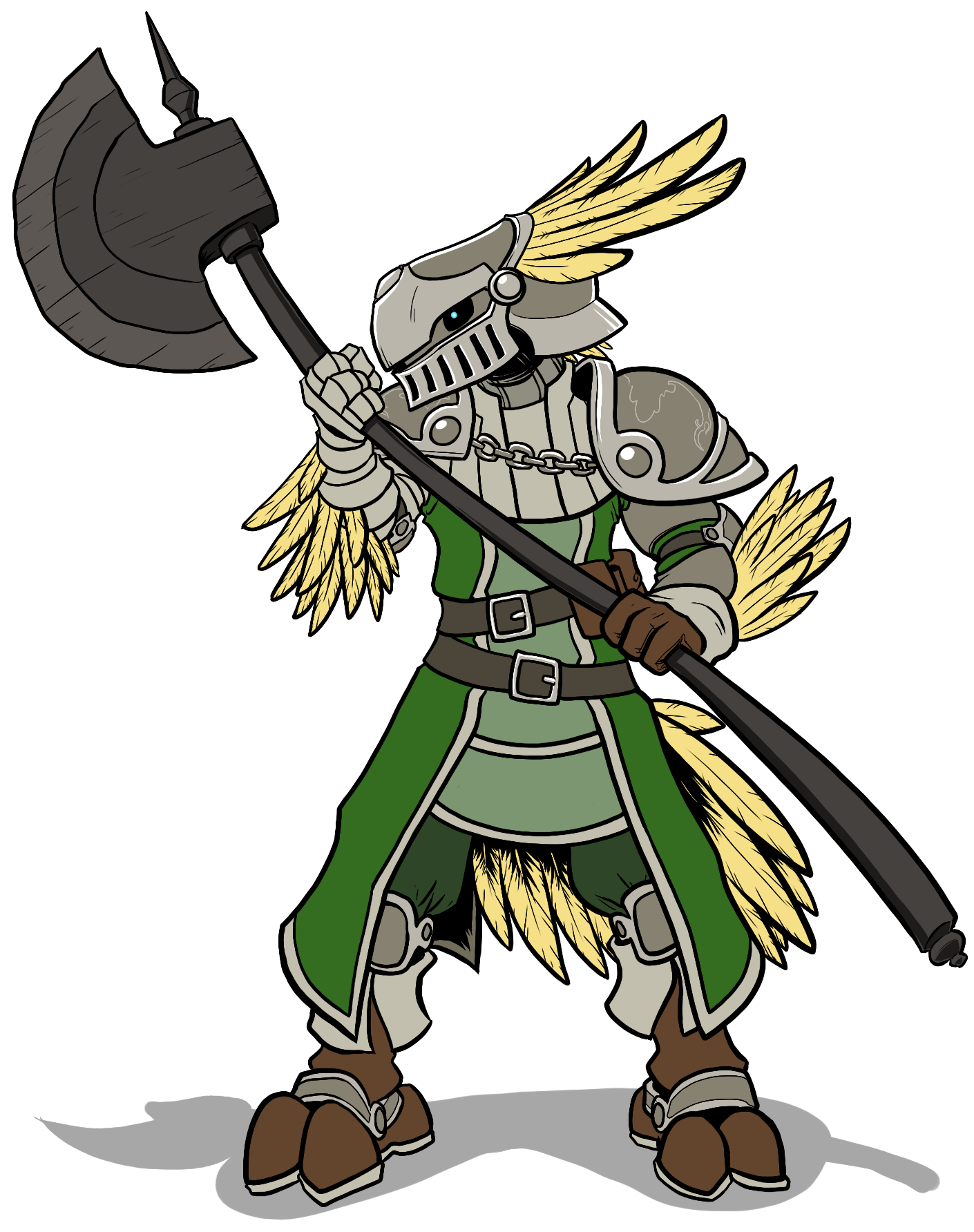Chocobo transparent knight. Commission seishan by greyknighthero