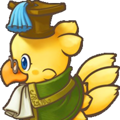 Chocobo transparent knight. Final fantasy fables s