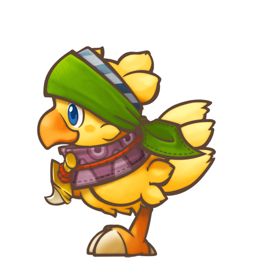 Chocobo transparent knight. S mystery dungeon every