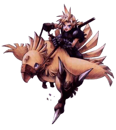 Chocobo transparent knight. Ffd representing the ultimate